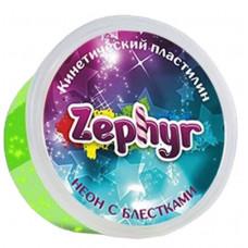 Zephyr Кинетический пластилин неоновый цвет зеленый, 00-00000865