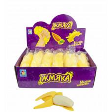 1toy Мелкие пакости, жмяка банан с шариками, 12,5см, 12шт в д/боксе Т16199