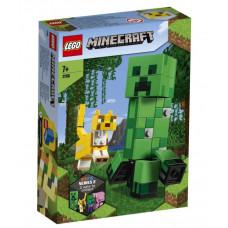 Конструктор LEGO Minecraft Большие фигурки Minecraft: Крипер и Оцелот 21156