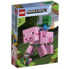 Конструктор LEGO Minecraft Большие фигурки Minecraft: Свинья и Зомби-ребенок  21157
