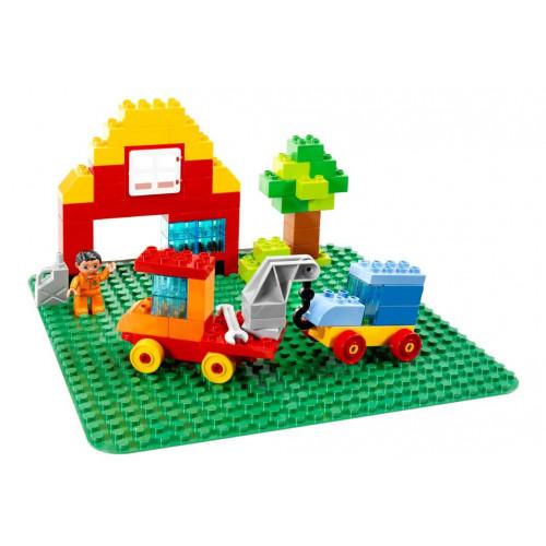 Конструктор LEGO DUPLO Большая строительная пластина 38х38, зеленая, 2304