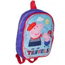 Рюкзак дошкольный Peppa Pig Свинка Пеппа Travels, плюшевый, 34839