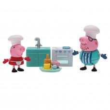 """Игровой набор Peppa Pig – """"Свинка Пеппа и Папа пекут блинчики"""" 5 предметов, свет 35353"""