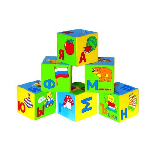 "Мягкие кубики ""Азбука в картинках"", Мякиши 399"
