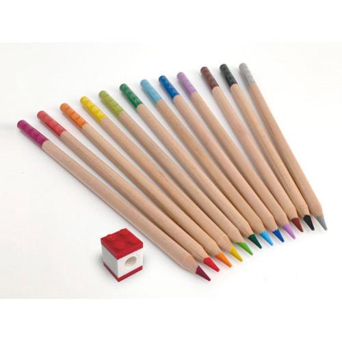 LEGO Набор цветных карандашей 12 шт. с насадкой в форме кирпичика, 52064L