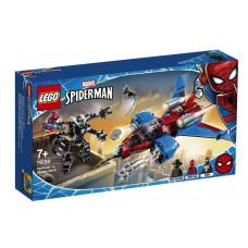 Конструктор LEGO Super Heroes Marvel Реактивный самолет Человека-паука против Робота Венома 76150