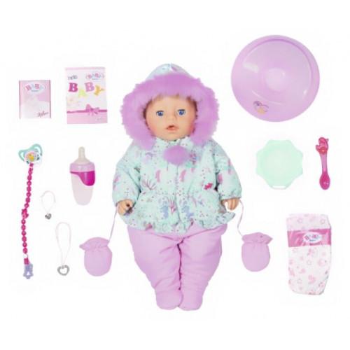 "Кукла Zapf Creation Baby born ""Зимняя"", интерактивная, 43 см, 827-529"