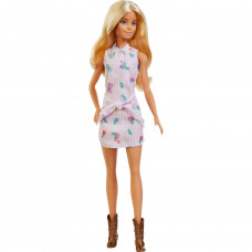 Кукла Barbie Игра с модой 119 Платье-рубашка с цветочным принтом FXL52