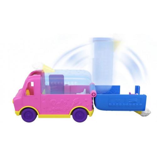 Интерактивная игрушка Polly Pocket Полливиль Грузовик с мороженым, GGC39_GGC40