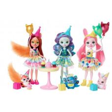 Игровой набор с куклой Enchantimals День рождения, GJX22