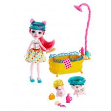 Набор игровой c куклой Enchantimals Банный день GJX35_GJX36