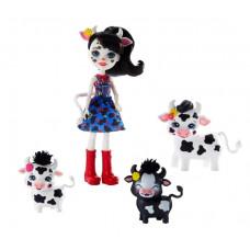 Игровой набор с куклой Enchantimals Кэмбри Коровка и Рикотта Мак Чиз, GJX43_GJX44