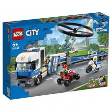 """Конструктор LEGO CITY """"Полицейский вертолётный транспорт"""", 60244"""