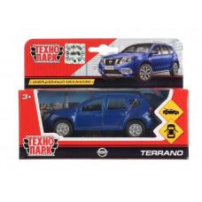 Машина инерционная Технопарк металлическая, Nissan Terrano, синий, 12 см, открываются двери, багажник 4467936