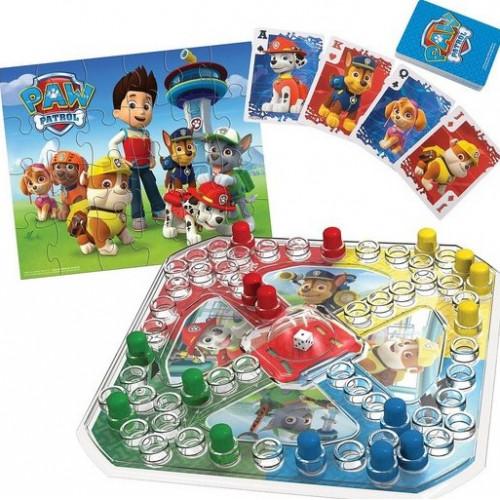 Настольная игра с кубиком и фишками + пазл + игровые карты Щенячий Патруль Spin Master 6033299