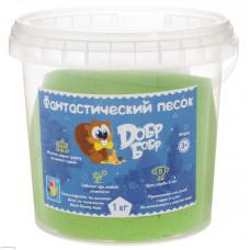 ДобрБобр Фантастический песок цвет зеленый 1 кг, Т10265