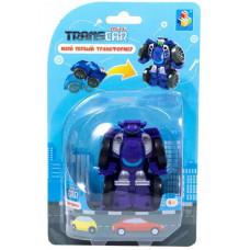 Трансформер 1TOY Мой первый трансформер, собирается в суперкар, Т16512, фиолетовый, 6 см