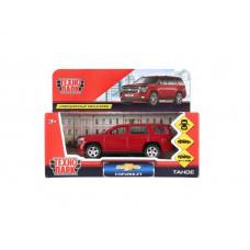 """Машина металлическая Технопарк """"Chevrolet Tahoe"""", длина 12 см, открываются двери, багаж, инерционная, красный TAHOE-BK"""