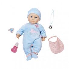 Baby Annabell Пупс с мимикой в голубом комбинезоне, 794-654
