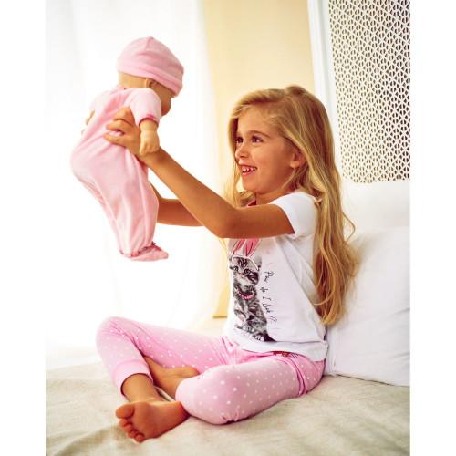 Baby Annabell Пупс с мимикой в розовом комбинезоне, 794-821