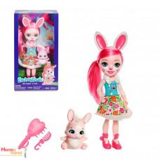 Кукла Enchantimals Бри Кроля с любимой зверюшкой, 15 см, DVH88