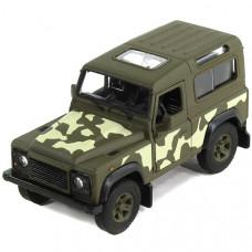 Внедорожник Welly Land Rover Defender военная (42392CM) 1:34