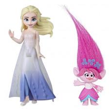 Комплект фигурок Frozen Холодное сердце 2 королева Эльза и Trolls Розочка, frozen_trolls_7