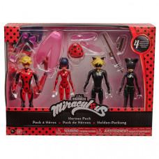 Игровой набор с куклой Miraculous Леди Баг 4 героя, с аксессуарами, 39945