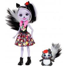 Кукла Enchantimals Седж Скунси с любимой зверюшкой, 15 см, DYC75