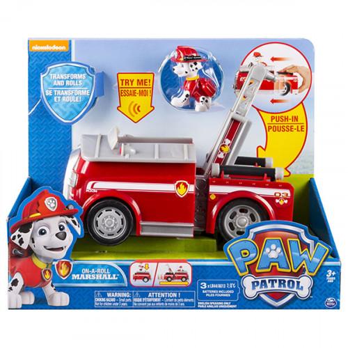Фигурка Spin Master Paw Patrol Машинка спасателя и щенок - Пожарная машина Маршала 20064339