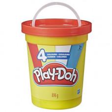 Масса для лепки Play-Doh большая банка красная крышка 4 цвета 896 г (E5207/E5045)