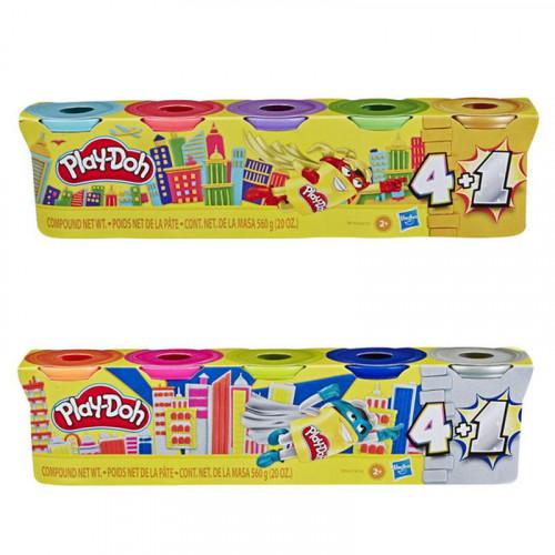 Игровой набор Hasbro Play-Doh промо-набор 4+1 банки в ассор. E8142