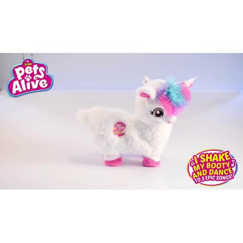 Интерактивная мягкая игрушка ZURU Pets Alive Танцующая Лама